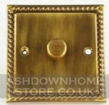 Monarch Roped Antique Bronze Dimmer Switches